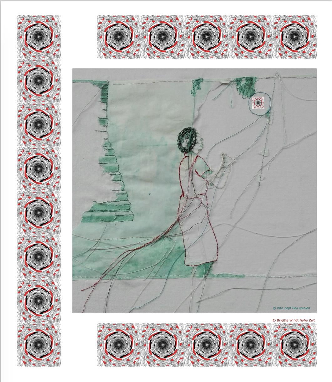 NEUJAHRSEMPFANG 2019 Rita Zepf Textil Kunst - Brigitte Windt Texte und Illustrationen - Berlin