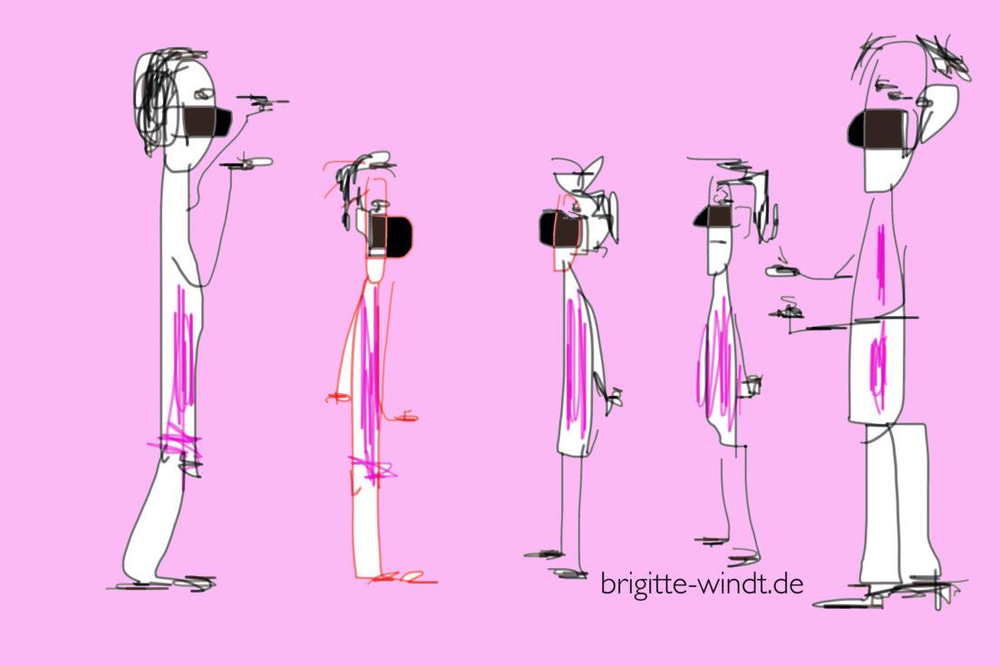 Bewegungsfreiheit, Brigitte Windt, Skizzenwerkstatt 2020